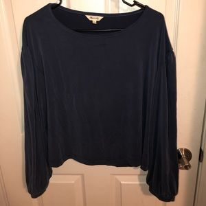 Madewell dark blue long sleeve shirt Size: S